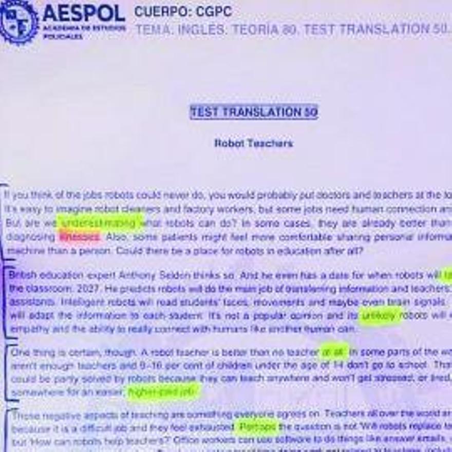 El texto usado por la academia.