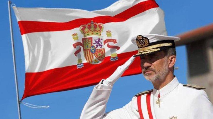 La Patrulla Águila la 'lía' con la bandera y Twitter se llena de memes