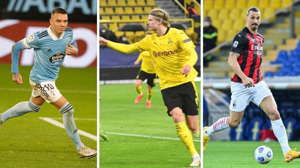Aspas, Haaland e Ibrahimovic