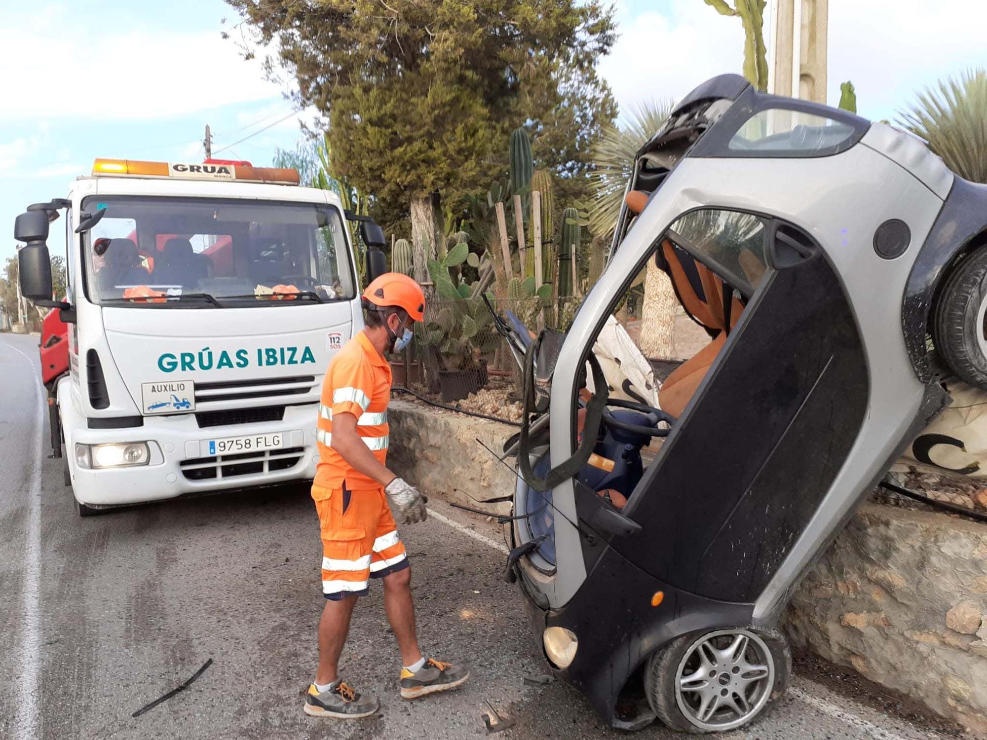 Accidente de tráfico carretera Porroig