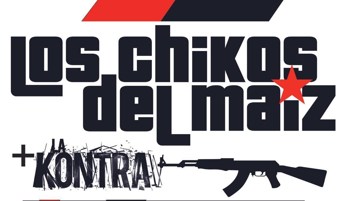Cartel promocional del concierto de Los Chikos del Maíz en Zamora.