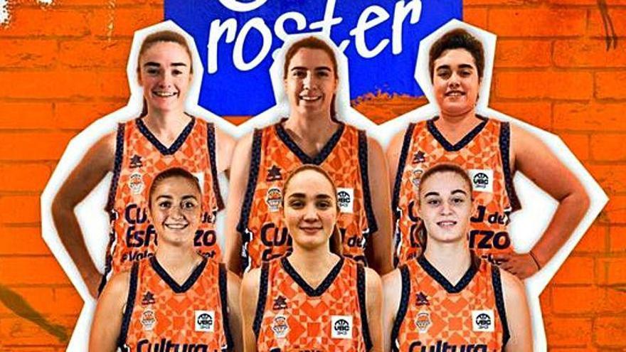 Dos taronja del Mur dels Somnis, entre las seis jugadoras del Valencia Basket 3x3