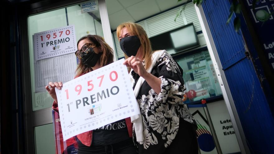 Los tres grandes premios del Niño  dejan 550.000 euros en Tenerife