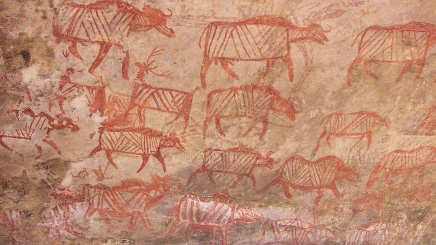 Arte rupestre en la India