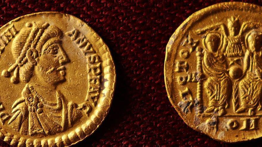 Las monedas de Xàbia y el fin del Imperio Romano