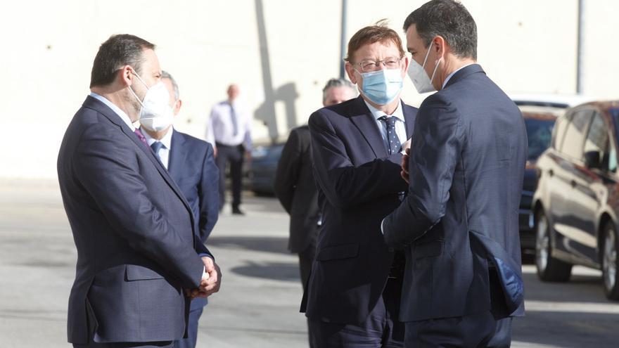 La llegada de Pedro Sánchez para inaugurar el AVE Madrid-Elche-Orihuela