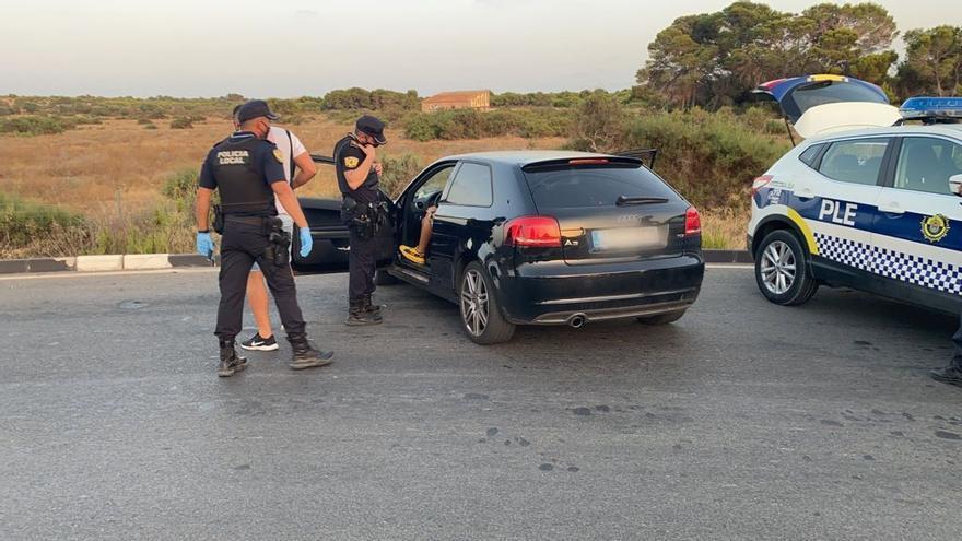 Detenido en El Altet por circular sin carné y con nueve gramos de cocaína en el coche