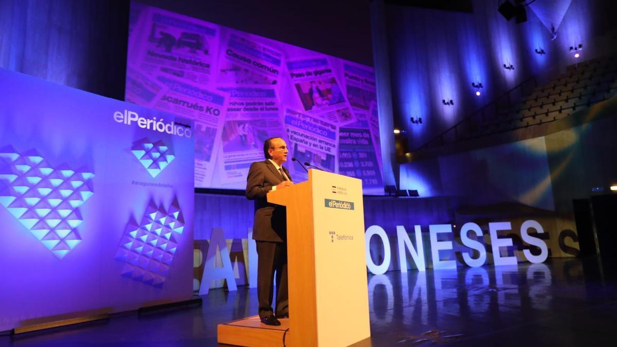 Javier Moll durante el discurso.