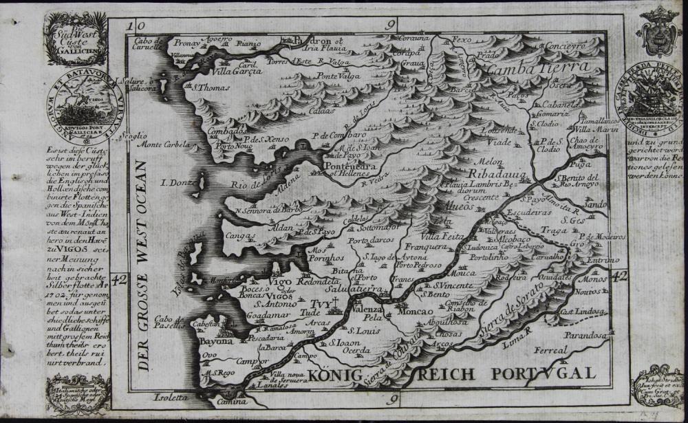 Die Sud-West Custe von Gallicien, de I Stridbet (1702)