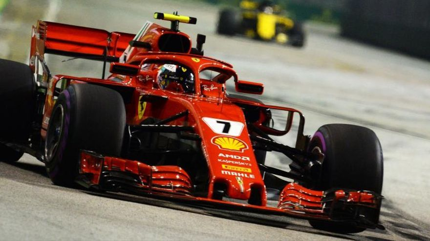 Raikkonen lidera los segundos entrenamientos libres en el GP de Singapur