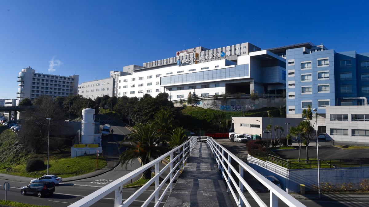 Acceso al Complexo Hospitalario Universitario de A Coruña (Chuac).
