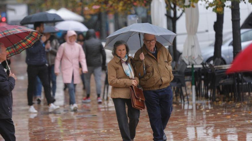 Fuertes lluvias en València