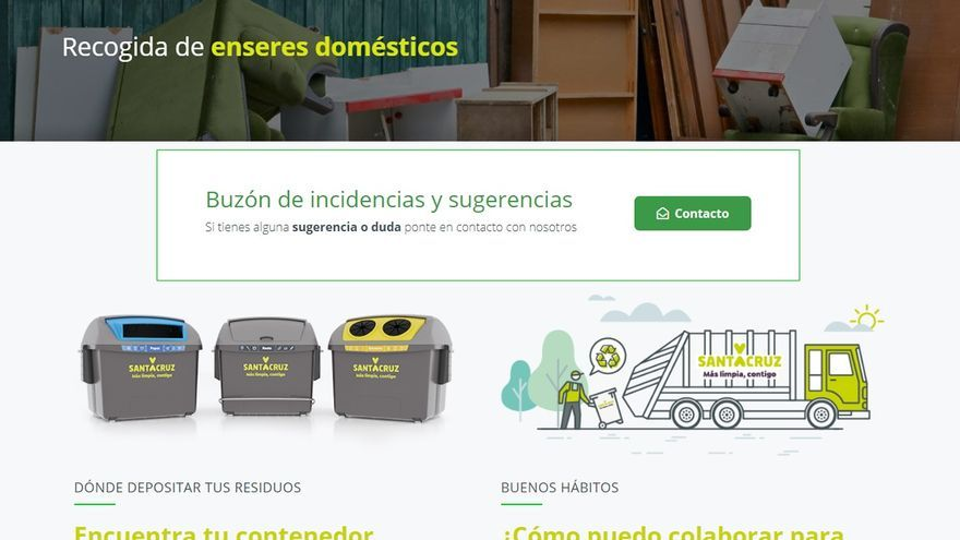Santa Cruz estrena un nuevo buscador para localizar el contenedor de basura más cercano