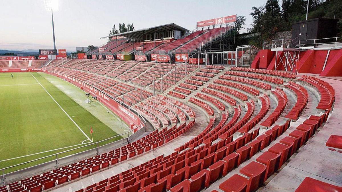 Des de fa més d'un any, els partits a Montilivi es juguen sense públic.