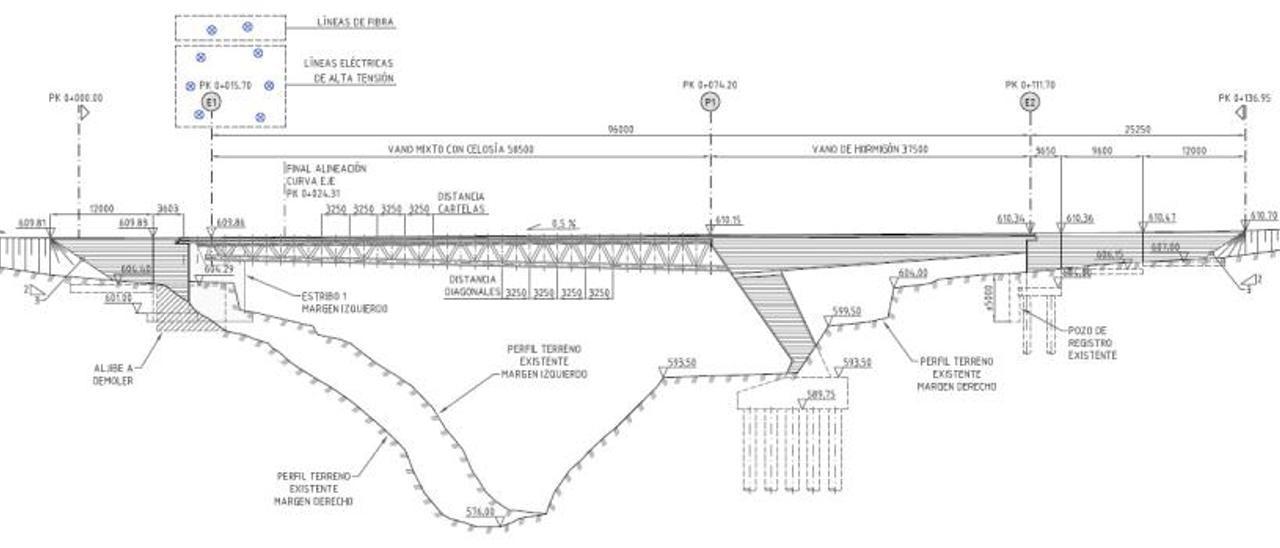 Proyecto del puente que tiene previsto adjudicar el Ayuntamiento de Alcoy.