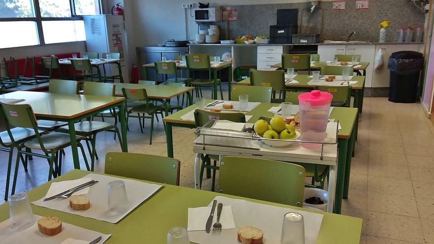Lechuga y habas frías como plato del día en los colegios de Moaña