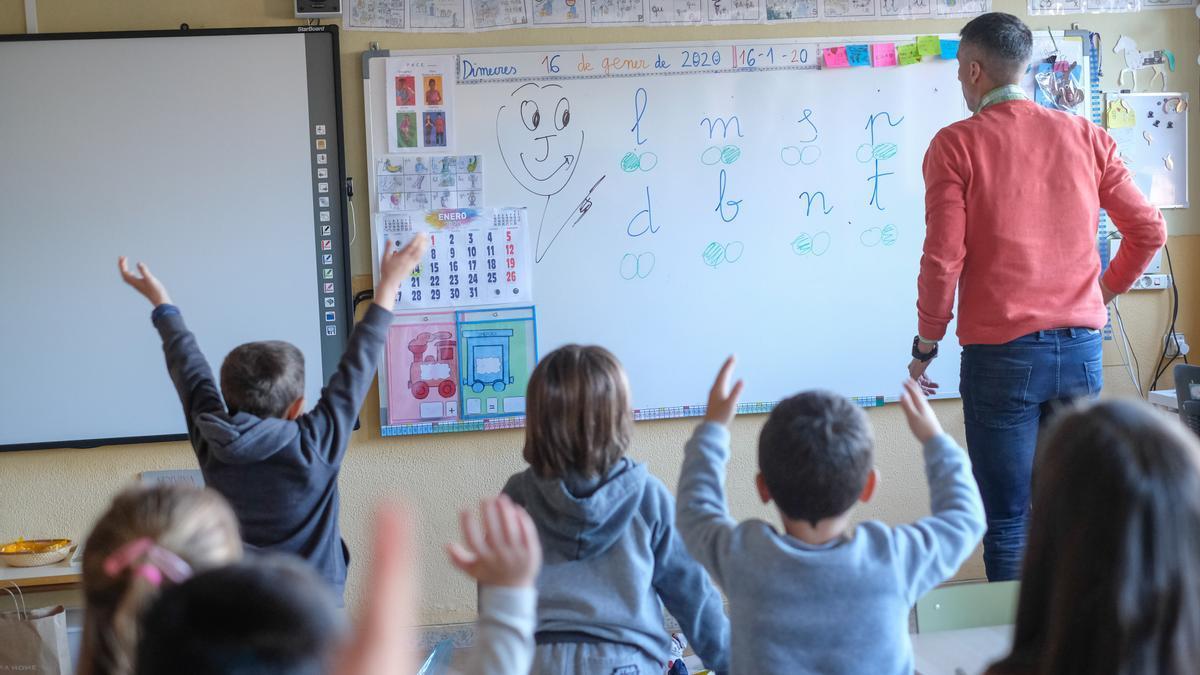 Alumnos de Educación Infantil en un colegio de la provincia, en una imagen de archivo