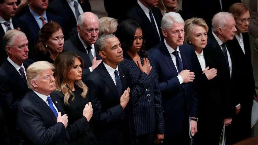 Cinco presidentes en el funeral de Estado de George H.W. Bush