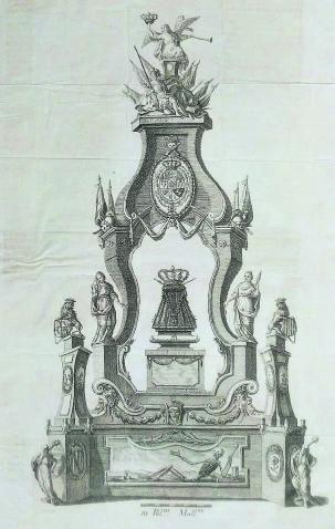 Túmulo para las exequias de Carlos III.