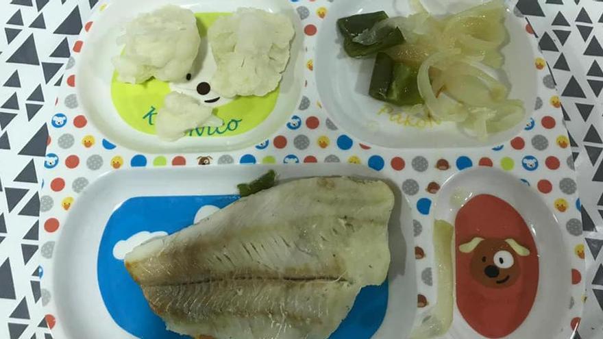 Uno de los platos mostrados por los infantiles.