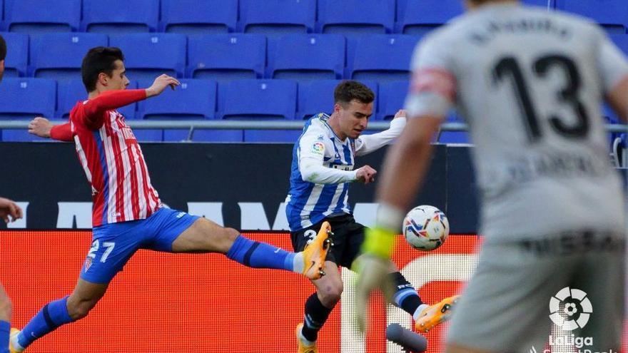 El Sporting cae en un final polémico con el Espanyol, en el que reclamó un penalti sobre Babin (2-0)