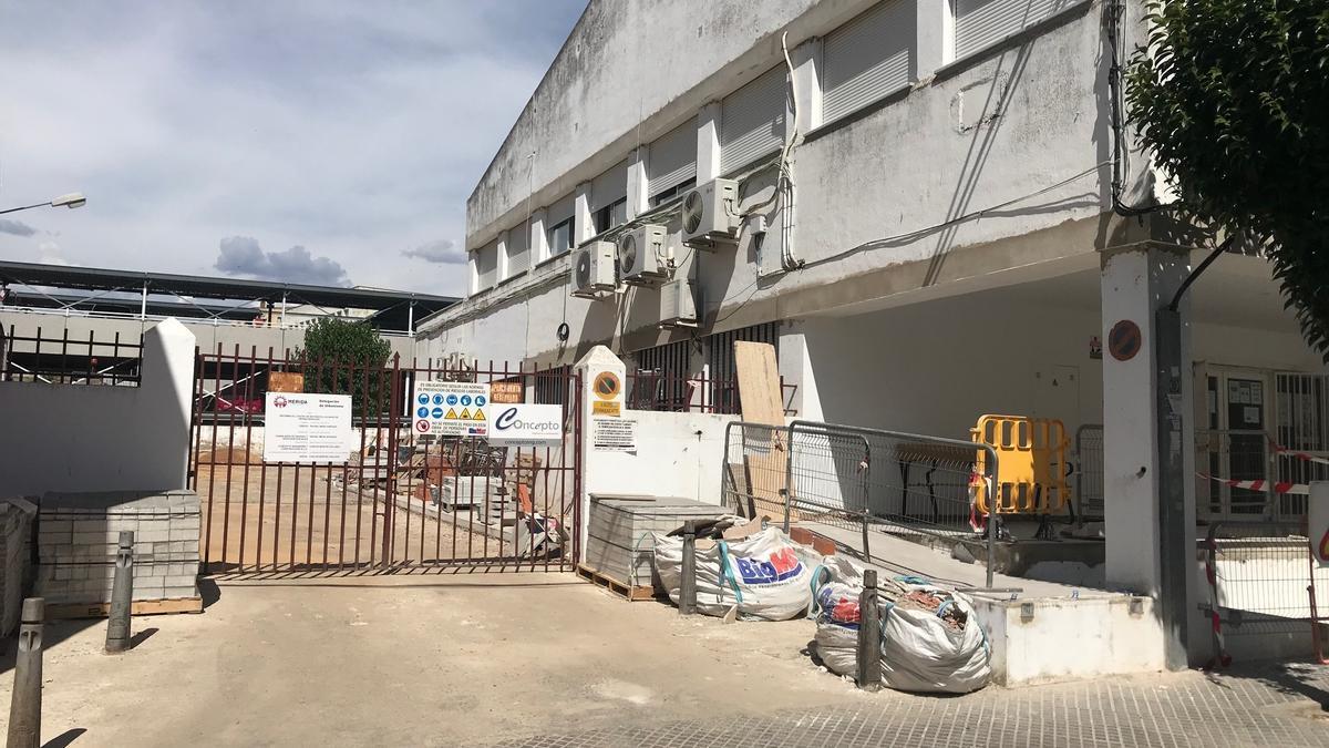 Estado de las obras en el centro de mayores El Calvario.