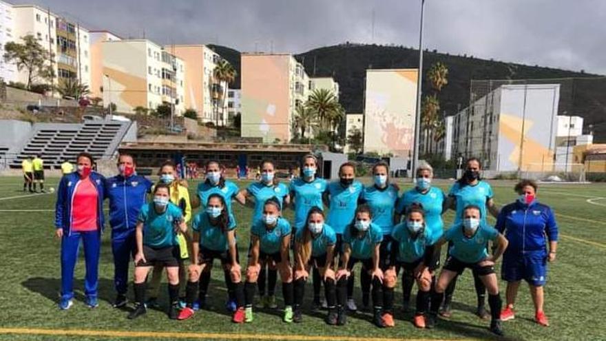 La formación del CD Tarsa, que jugó con mascarilla ante el Real Unión Tacuense 'B'.