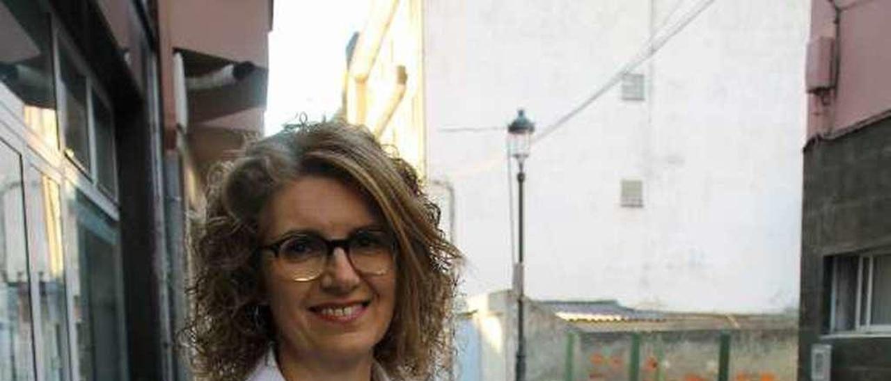 Ana Isabel Fernández, en Navia.