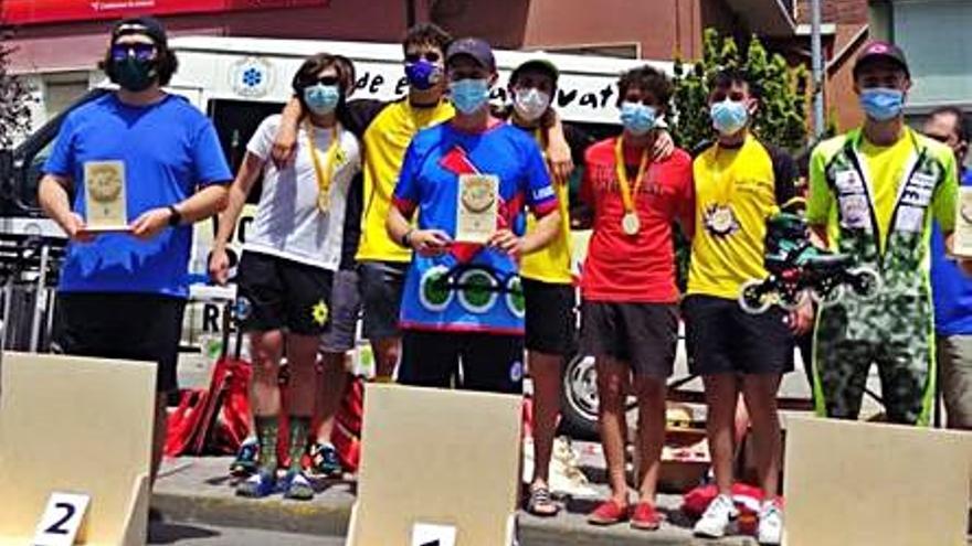 Tres campeonatos de España y 13 medallas para el patinaje asturiano en la primera prueba del Nacional