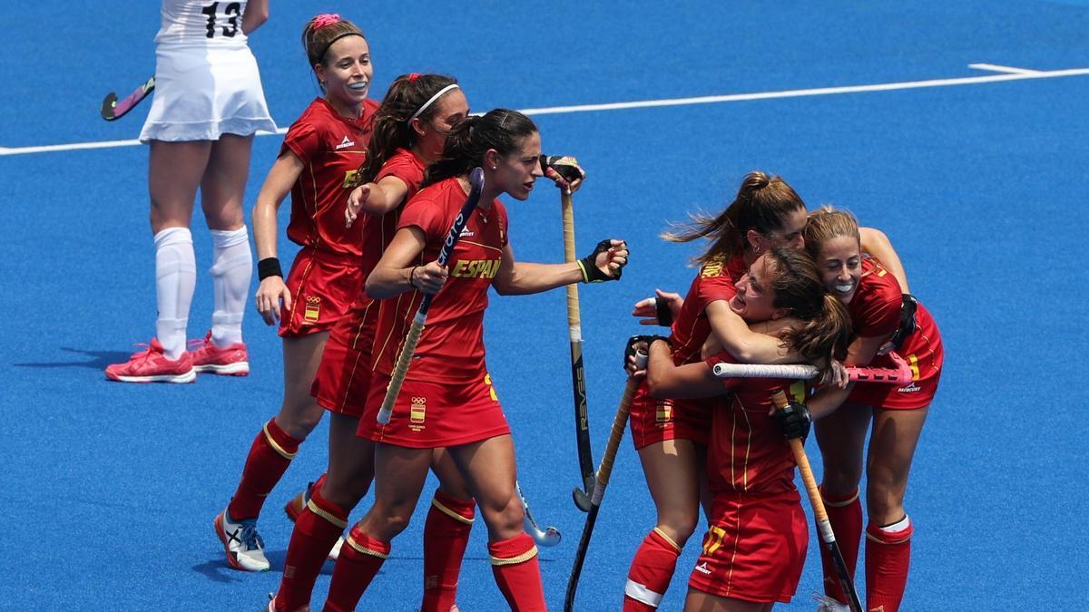 La selección española femenina de hockey se impone a Nueva Zelanda.