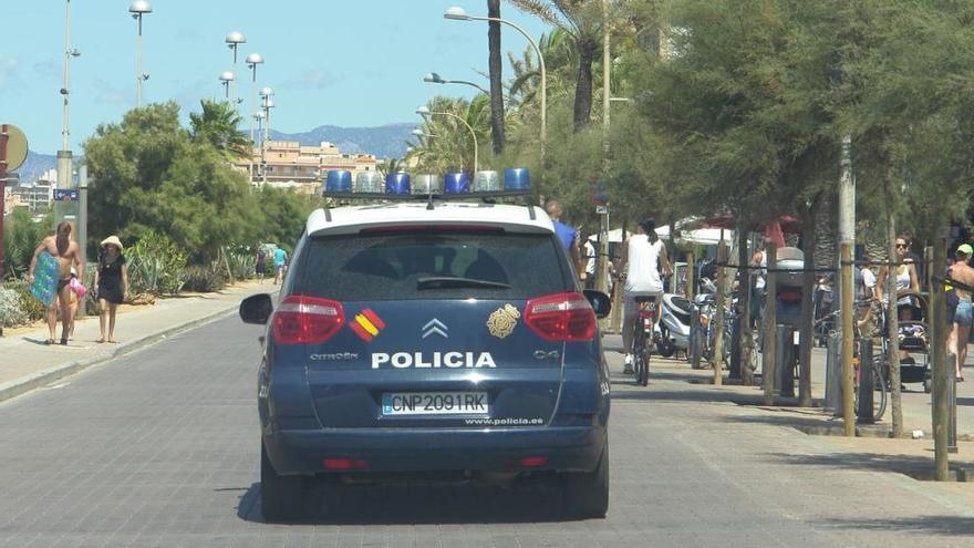 Neun Festnahmen wegen Diebstahls und Drogenhandels an der Playa de Palma