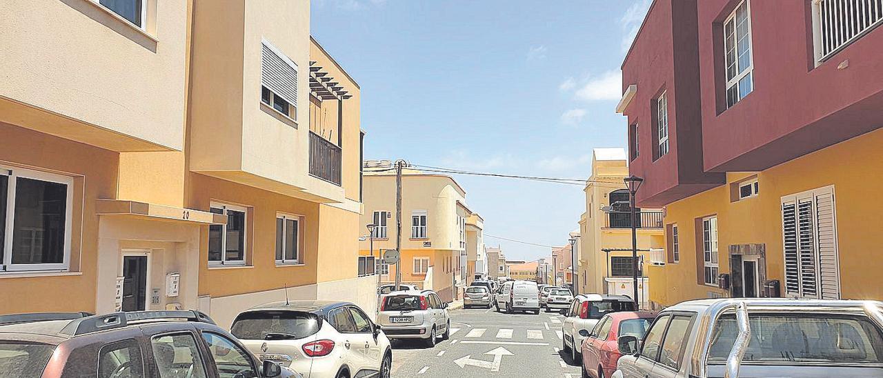 Imagen de una de las calles del barrio Fabelo, en Puerto del Rosario