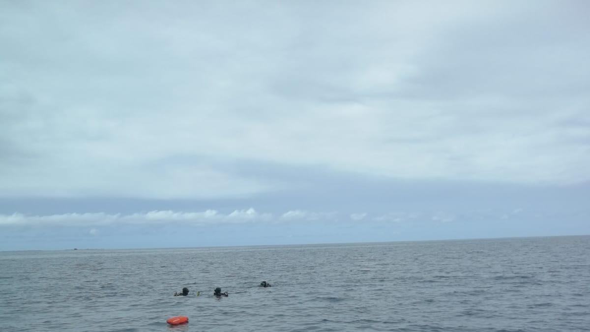 Zona de búsqueda del submarinista en la costa del Aeroclub, en San Bartolomé de Tirajana.
