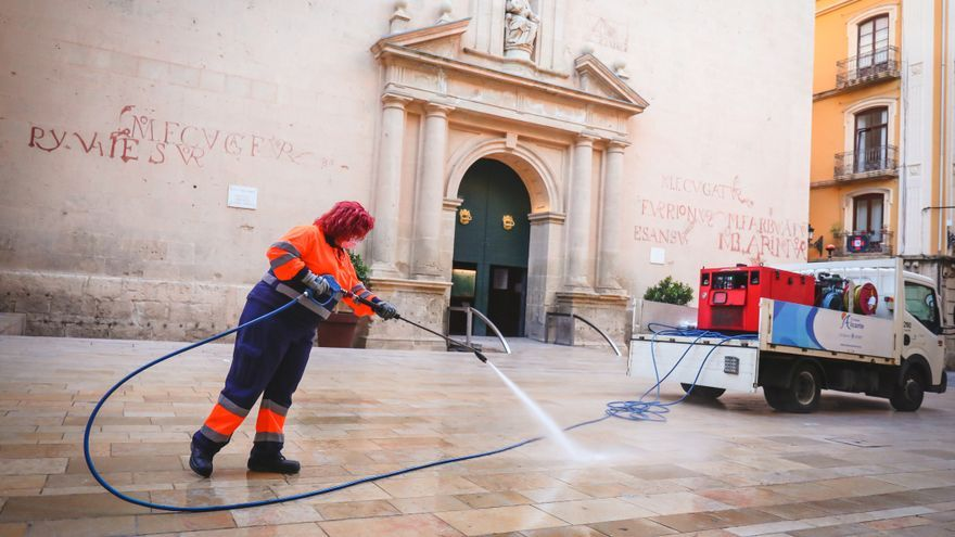 UTE Alicante reduce un tercio la siniestralidad en la plantilla del servicio de limpieza