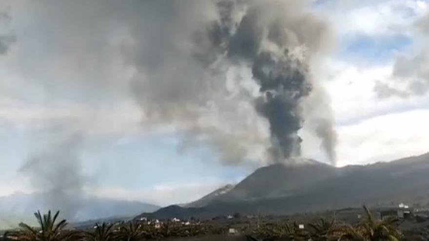 Volcán de La Palma desde Caños de Fuego