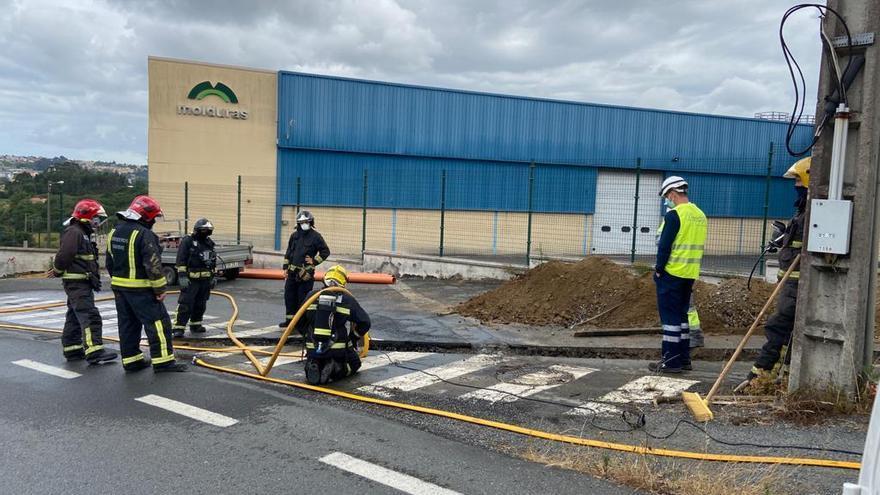Un escape de gas obliga a cortar el suministro en Cambre