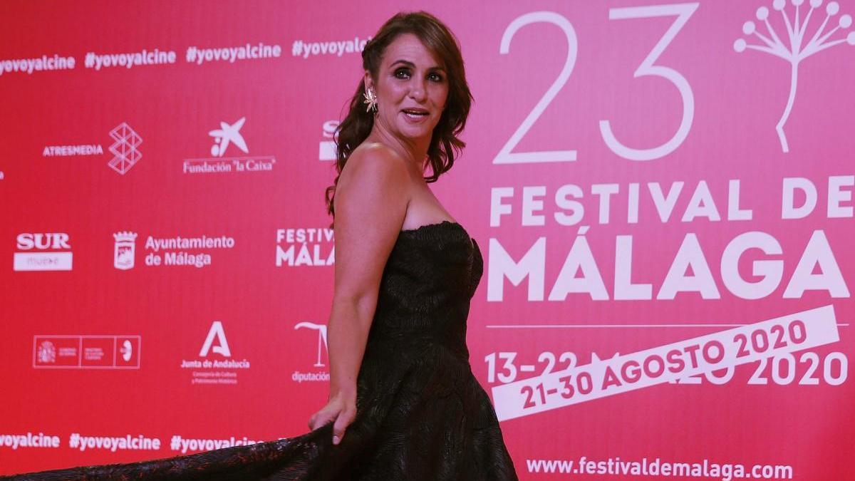 La actriz Melani Olivares posa en el XXIII Festival de Cine de Málaga en Español.