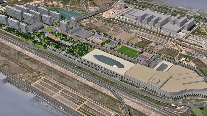 El nuevo barrio a espaldas de La Fe tendrá un complejo comercial y de oficinas