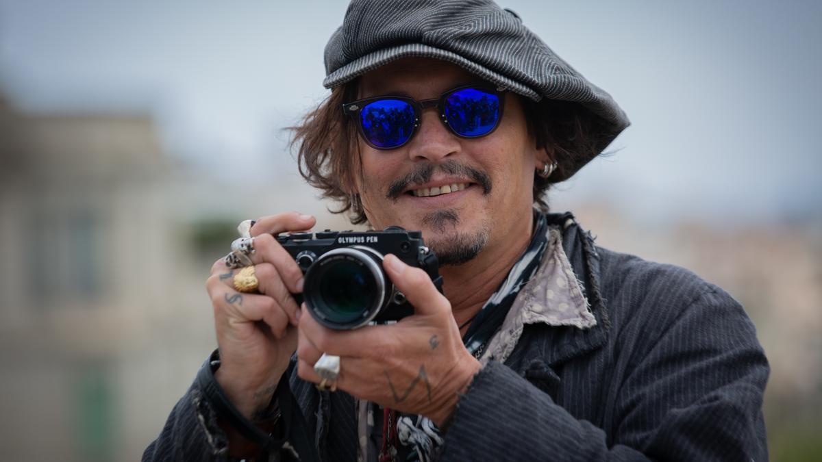 Johnny Depp, en una promoción en Barcelona.