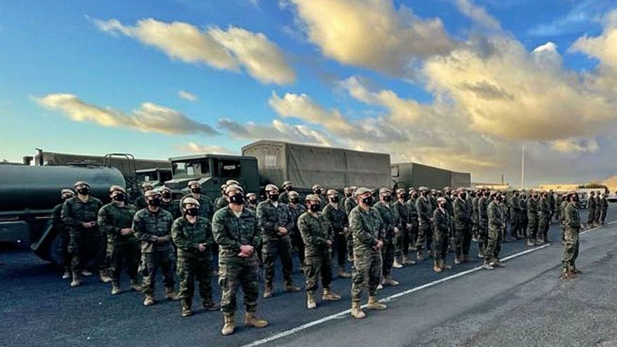 Regresan a Canarias los últimos componentes de la Brigada Canarias XVI