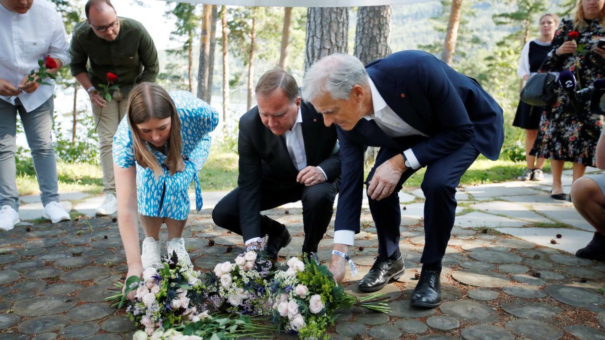 Acto de recuerda a las víctimas de los ataquen en Utoya.