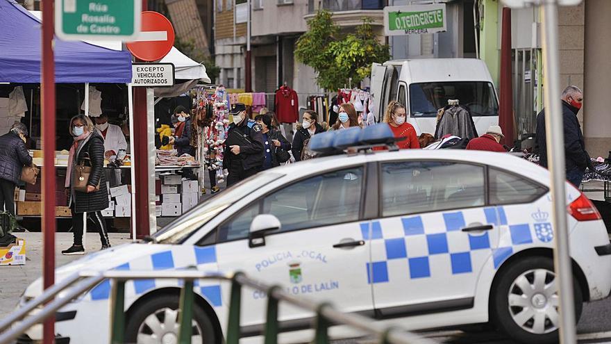 Los coches policía de Lalín