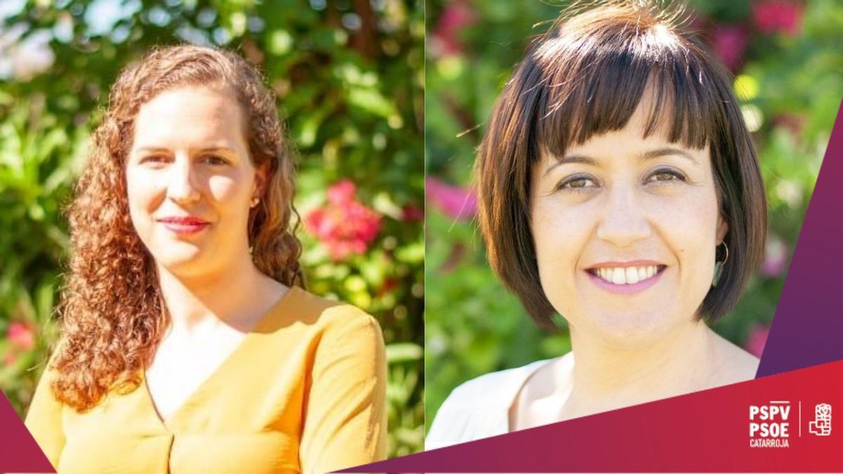 Beatriz Sierra y Lorena Silvent, concejalas del PSPV Catarroja.