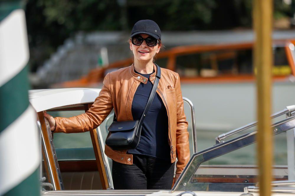 French actor Juliette Binoche arrives by taxi ...