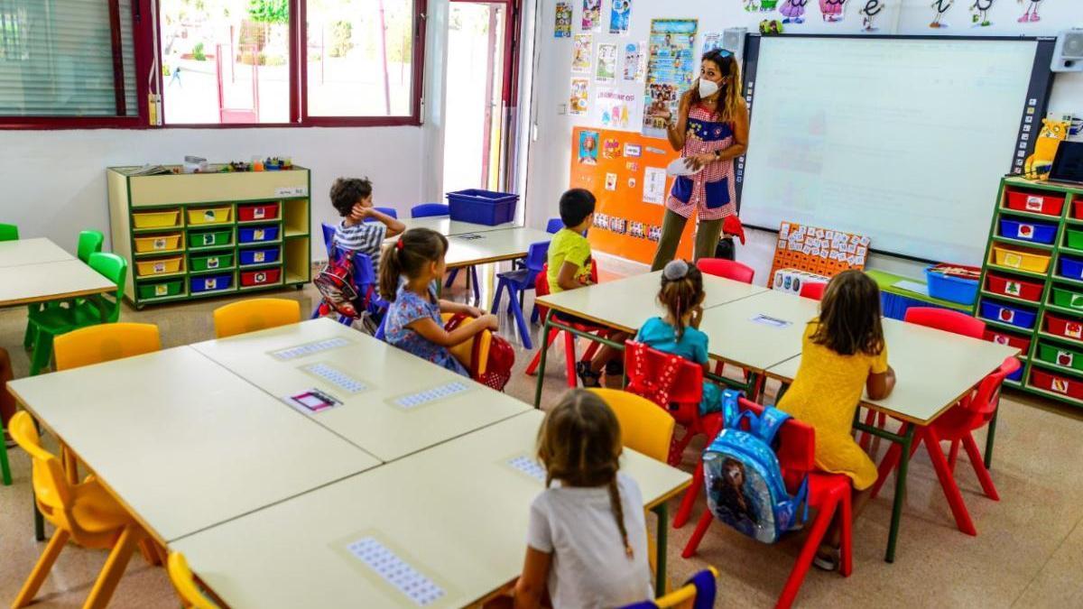 Clase de infantil en el municipio de Cartagena.
