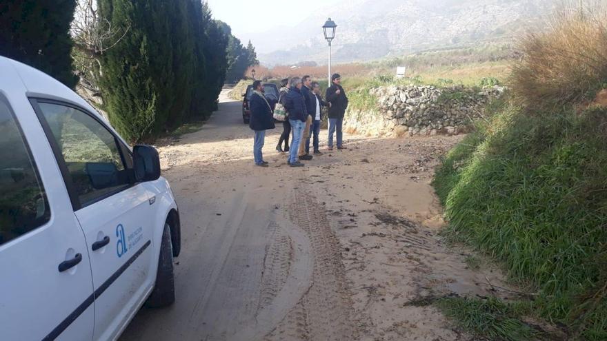 La Diputación de Alicante sube un 25% las ayudas para la reparación de caminos municipales