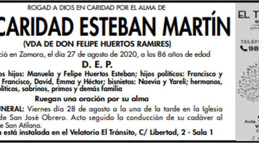 Dª Caridad Esteban Martín