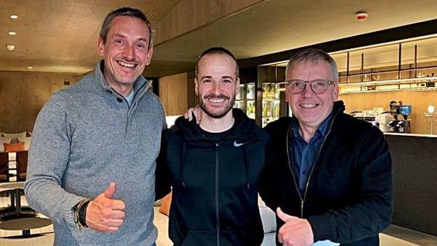 Oller del Mas i Altius firmen un acord per a l'estrena del gimnàs privat Innat el gener
