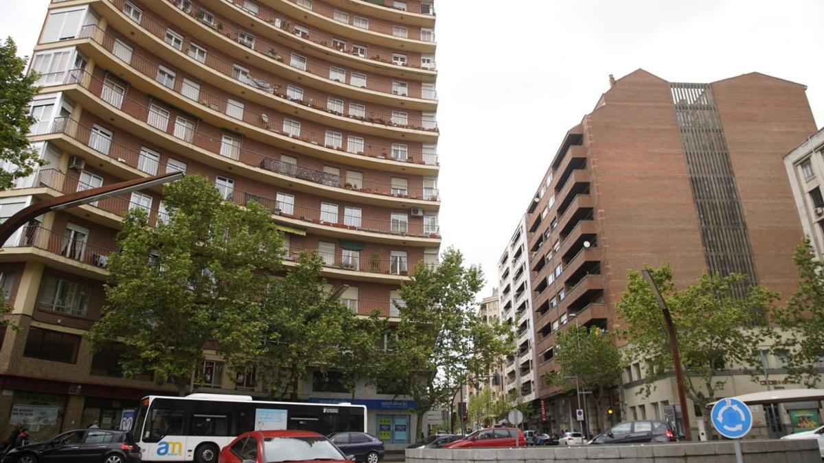 Zona de la plaza de Alemania e inicio de Víctor Gallego, en el distrito más rico de Zamora
