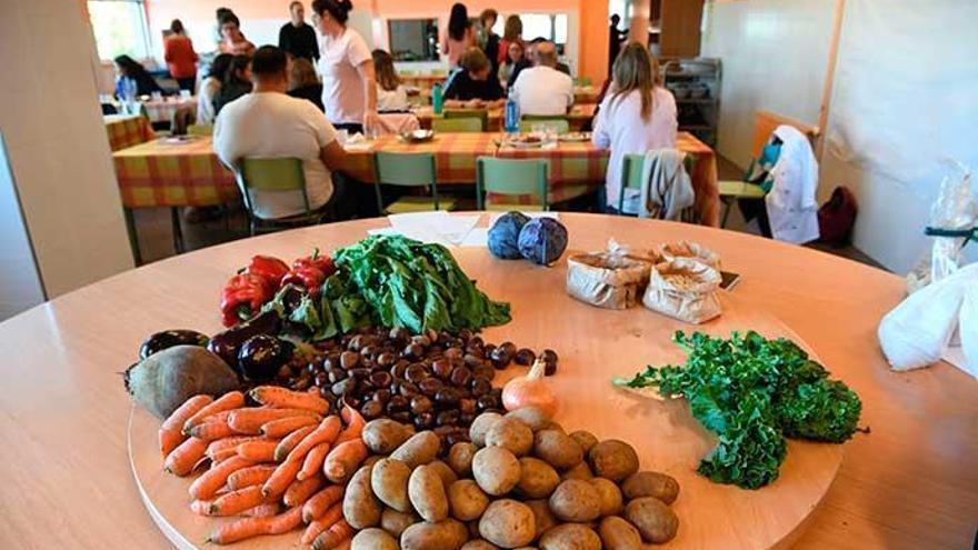 El reto: 100 gramos de verdura por menú escolar